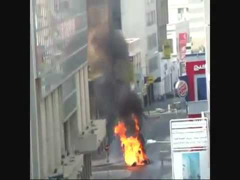 Shittes Terorists in Bahrain BLOW UP shops in the City Center