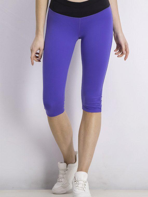 Womens Capri Leggings Royal Blue