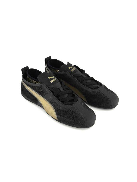 Womens Eskiva Low Evo Sneakers Shoes Black/Gold