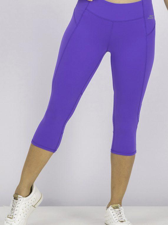 Womens Performance Capri Leggings Purple