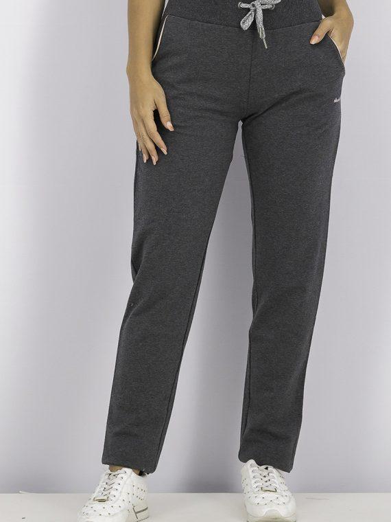 Womens Slant Pocket Drawstring Sweatpants Charcoal